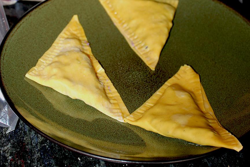 Purple Potato Curry Samosas - OrganicallyMade.com